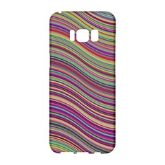 Wave Abstract Happy Background Samsung Galaxy S8 Hardshell Case