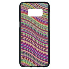 Wave Abstract Happy Background Samsung Galaxy S8 Black Seamless Case