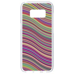 Wave Abstract Happy Background Samsung Galaxy S8 White Seamless Case