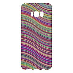 Wave Abstract Happy Background Samsung Galaxy S8 Plus Hardshell Case