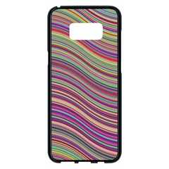 Wave Abstract Happy Background Samsung Galaxy S8 Plus Black Seamless Case