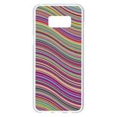 Wave Abstract Happy Background Samsung Galaxy S8 Plus White Seamless Case