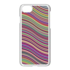 Wave Abstract Happy Background Apple iPhone 8 Seamless Case (White)