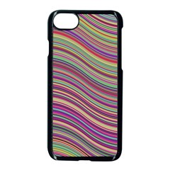 Wave Abstract Happy Background Apple iPhone 8 Seamless Case (Black)