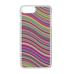 Wave Abstract Happy Background Apple iPhone 8 Plus Seamless Case (White)
