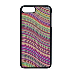 Wave Abstract Happy Background Apple iPhone 8 Plus Seamless Case (Black)