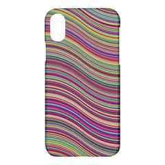 Wave Abstract Happy Background Apple iPhone X Hardshell Case