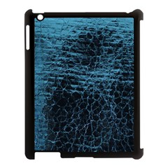 Blue Black Shiny Fabric Pattern Apple Ipad 3/4 Case (black)