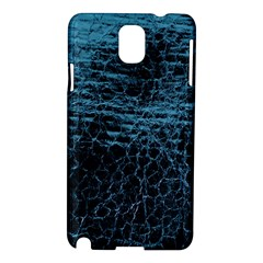 Blue Black Shiny Fabric Pattern Samsung Galaxy Note 3 N9005 Hardshell Case