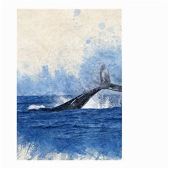 Whale Watercolor Sea Small Garden Flag (two Sides)