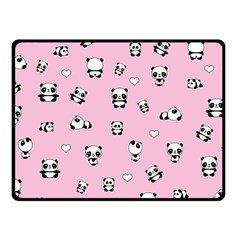 Panda Pattern Fleece Blanket (small) by Valentinaart