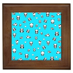 Panda Pattern Framed Tiles by Valentinaart