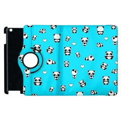 Panda Pattern Apple Ipad 3/4 Flip 360 Case by Valentinaart