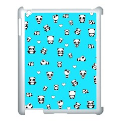 Panda Pattern Apple Ipad 3/4 Case (white) by Valentinaart