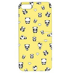 Panda Pattern Apple Iphone 5 Hardshell Case With Stand by Valentinaart