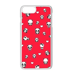 Panda Pattern Apple Iphone 8 Plus Seamless Case (white) by Valentinaart