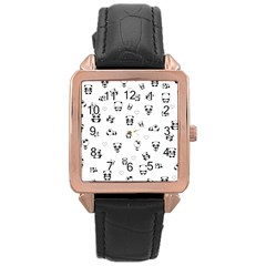 Panda Pattern Rose Gold Leather Watch