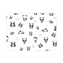 Panda Pattern Double Sided Flano Blanket (mini)  by Valentinaart