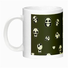 Panda Pattern Night Luminous Mugs by Valentinaart