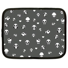 Panda Pattern Netbook Case (xxl)  by Valentinaart