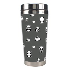 Panda Pattern Stainless Steel Travel Tumblers by Valentinaart