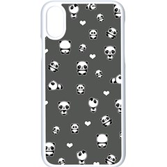 Panda Pattern Apple Iphone X Seamless Case (white) by Valentinaart