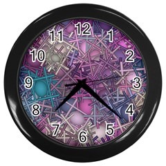 Fun,fantasy And Joy 1 Wall Clocks (black) by MoreColorsinLife