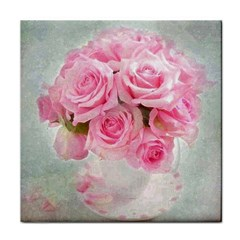Pink Roses Tile Coasters by 8fugoso