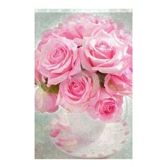 Pink Roses Shower Curtain 48  X 72  (small)  by 8fugoso