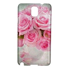 Pink Roses Samsung Galaxy Note 3 N9005 Hardshell Case by 8fugoso