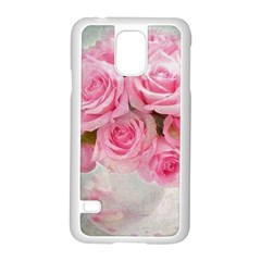 Pink Roses Samsung Galaxy S5 Case (white) by 8fugoso