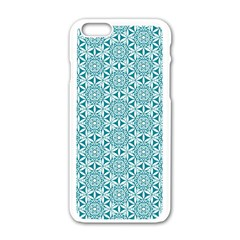 Mandala Hand Drawing Pattern  Apple Iphone 6/6s White Enamel Case by Cveti
