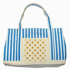 Bitcoin Logo Pattern Striped Blue Tote Bag by dflcprints
