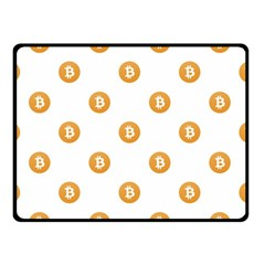 Bitcoin Logo Pattern Double Sided Fleece Blanket (small)  by dflcprints
