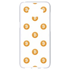 Bitcoin Logo Pattern Samsung Galaxy S8 White Seamless Case by dflcprints