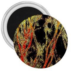 Artistic Effect Fractal Forest Background 3  Magnets by Amaryn4rt