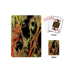 Artistic Effect Fractal Forest Background Playing Cards (mini)  by Amaryn4rt