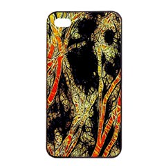 Artistic Effect Fractal Forest Background Apple Iphone 4/4s Seamless Case (black) by Amaryn4rt