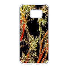 Artistic Effect Fractal Forest Background Samsung Galaxy S7 Edge White Seamless Case by Amaryn4rt