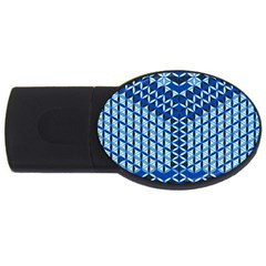 Flower Of Life Pattern Blue Usb Flash Drive Oval (2 Gb) by Cveti