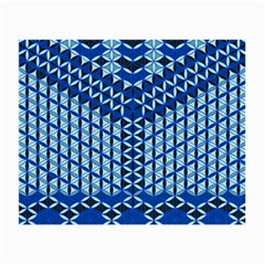 Flower Of Life Pattern Blue Small Glasses Cloth by Cveti
