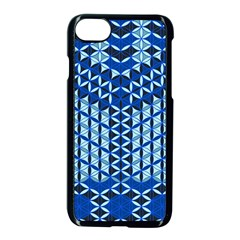 Flower Of Life Pattern Blue Apple Iphone 7 Seamless Case (black) by Cveti