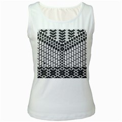Flower Of Life Grey Women s White Tank Top