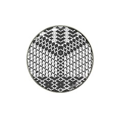 Flower Of Life Grey Hat Clip Ball Marker (4 Pack) by Cveti