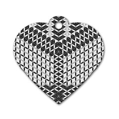 Flower Of Life Grey Dog Tag Heart (one Side)