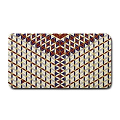 Flower Of Life Pattern Red Blue Medium Bar Mats by Cveti