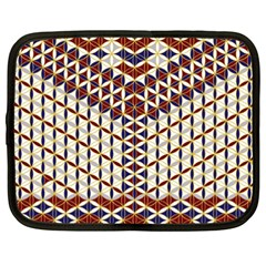 Flower Of Life Pattern Red Blue Netbook Case (xxl)