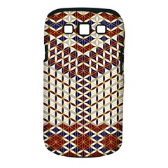 Flower Of Life Pattern Red Blue Samsung Galaxy S Iii Classic Hardshell Case (pc+silicone) by Cveti