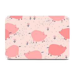 Pigs And Flowers Plate Mats by allthingseveryday