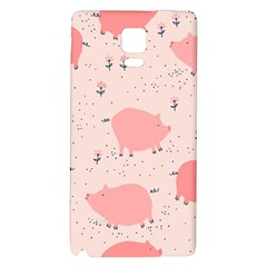 Pigs And Flowers Galaxy Note 4 Back Case by allthingseveryday